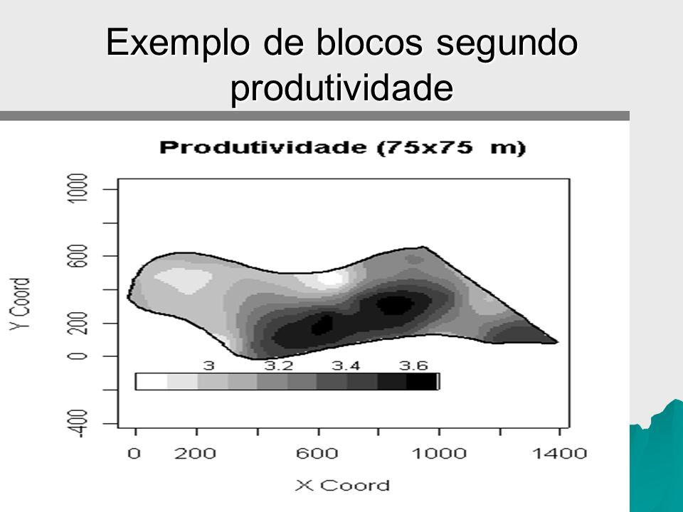 Exemplo de blocos segundo produtividade