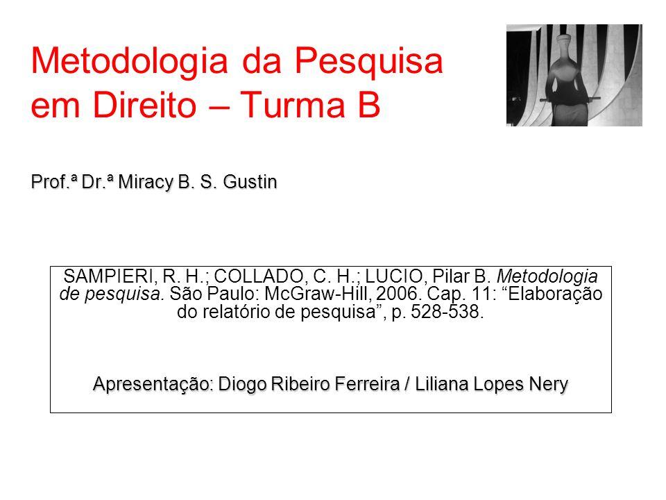Apresentação: Diogo Ribeiro Ferreira / Liliana Lopes Nery