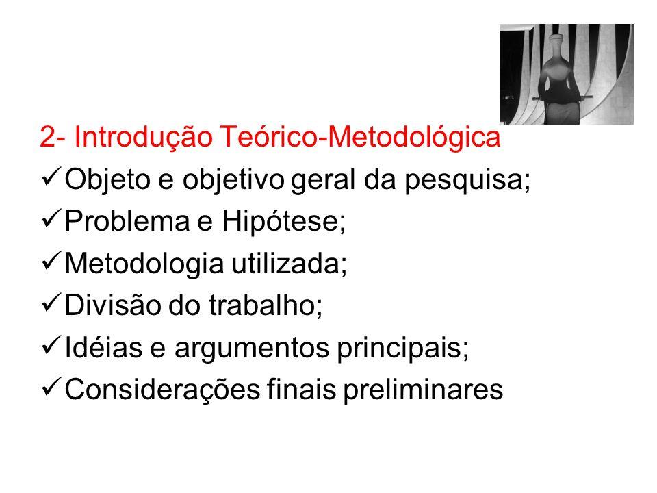 2- Introdução Teórico-Metodológica