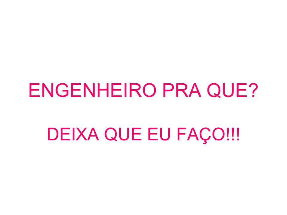 ENGENHEIRO PRA QUE DEIXA QUE EU FAÇO!!!