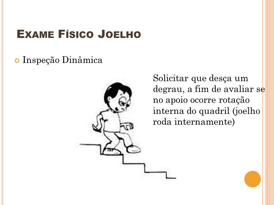 Exame Físico Joelho Inspeção Dinâmica