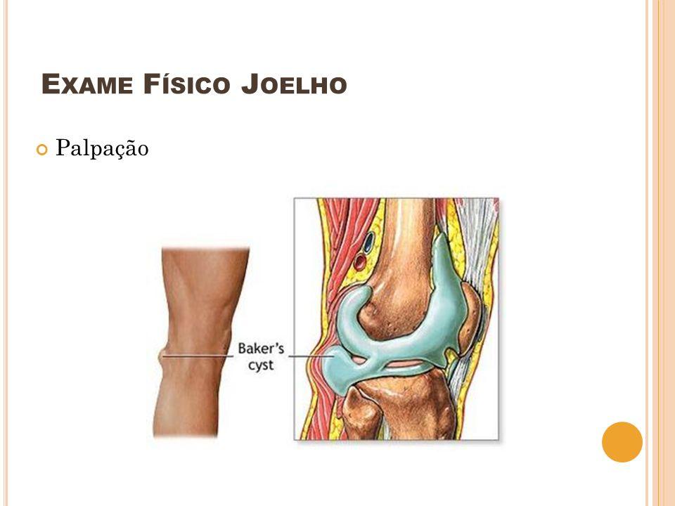 Exame Físico Joelho Palpação