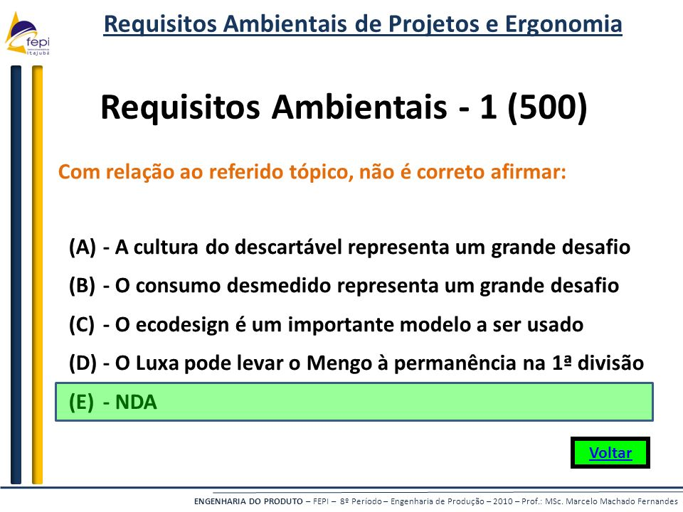 Requisitos Ambientais - 1 (500)