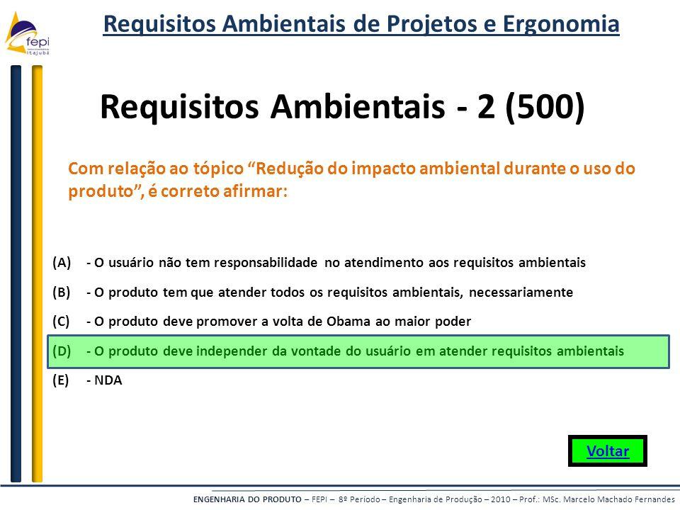 Requisitos Ambientais - 2 (500)