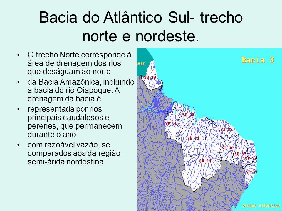 Bacia do Atlântico Sul- trecho norte e nordeste.