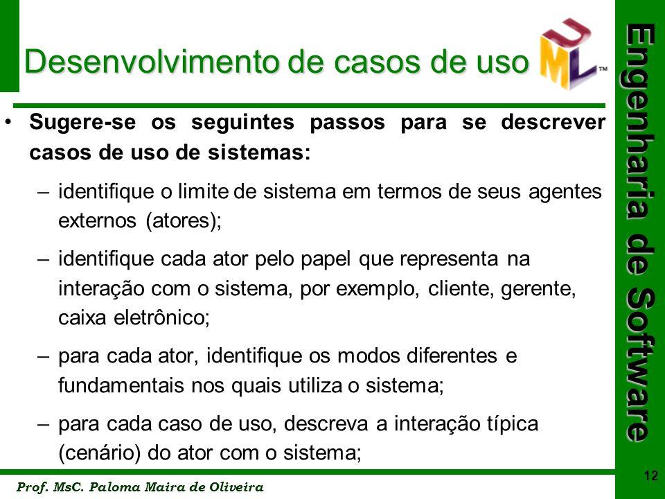 Desenvolvimento de casos de uso