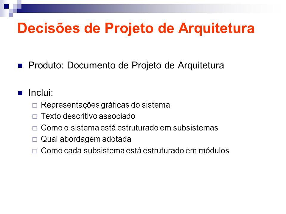 Decisões de Projeto de Arquitetura