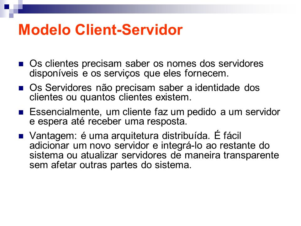 Modelo Client-Servidor