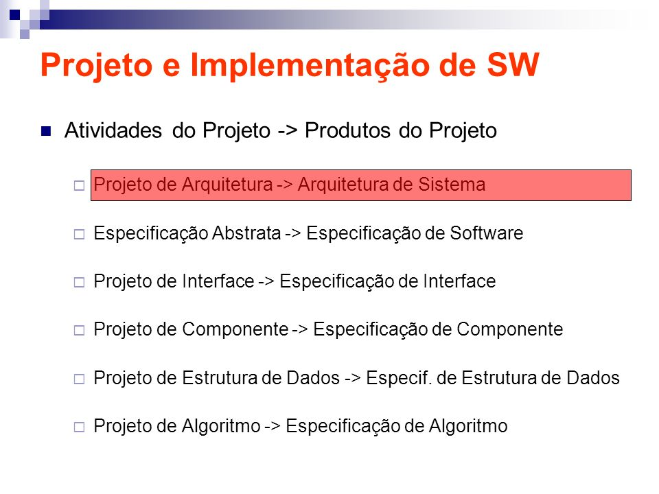 Projeto e Implementação de SW