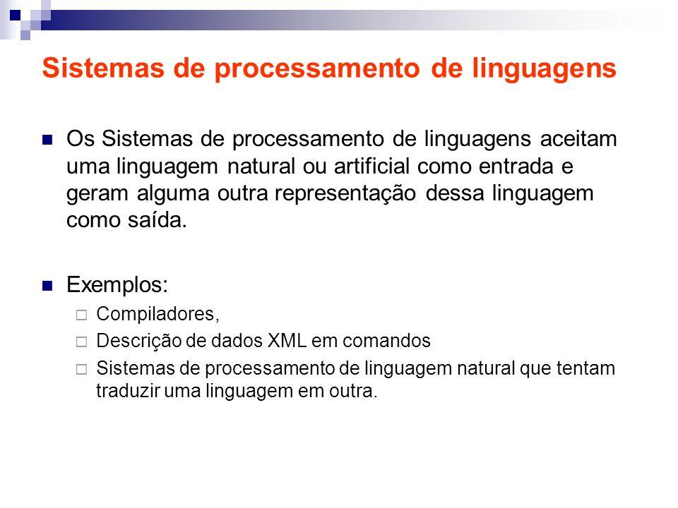 Sistemas de processamento de linguagens