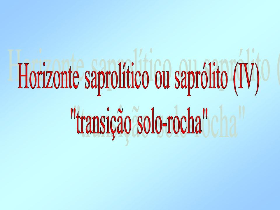 Horizonte saprolítico ou saprólito (IV)
