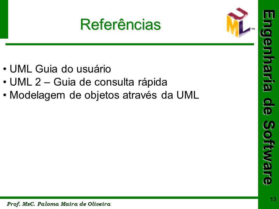 Referências UML Guia do usuário UML 2 – Guia de consulta rápida