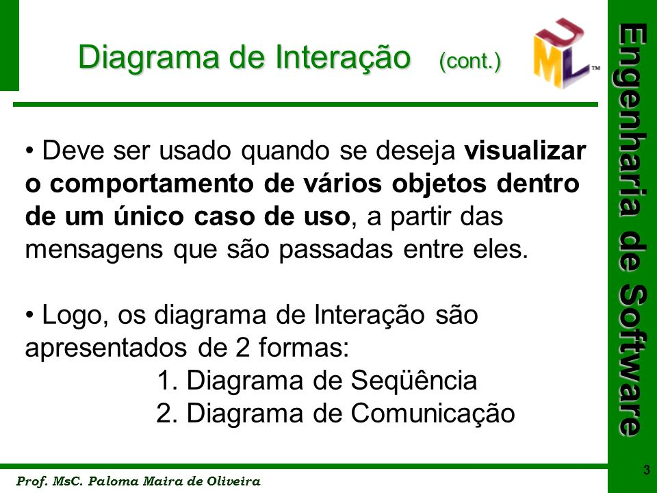 Diagrama de Interação (cont.)