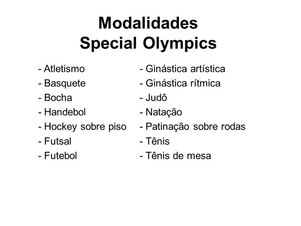 Modalidades Special Olympics