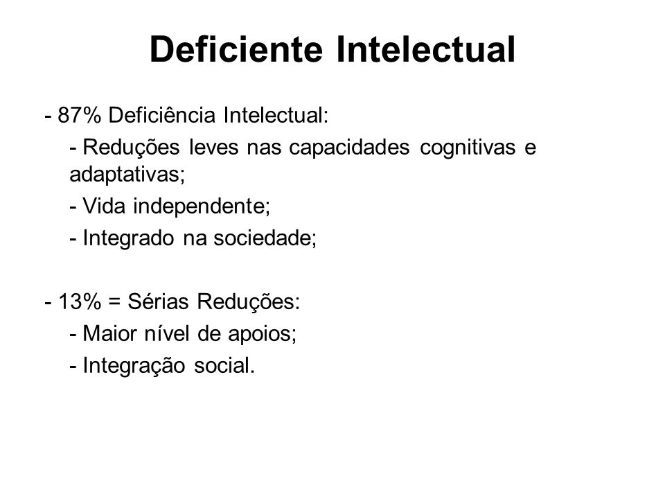 Deficiente Intelectual