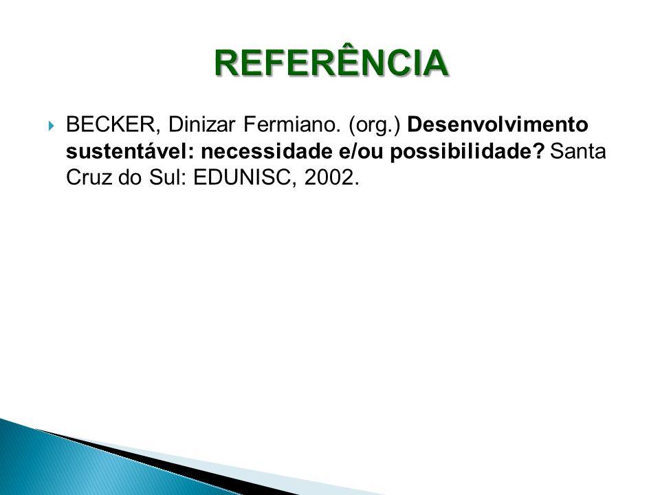 REFERÊNCIA BECKER, Dinizar Fermiano.