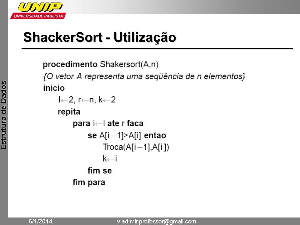 ShackerSort - Utilização