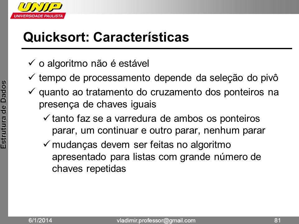 Quicksort: Características