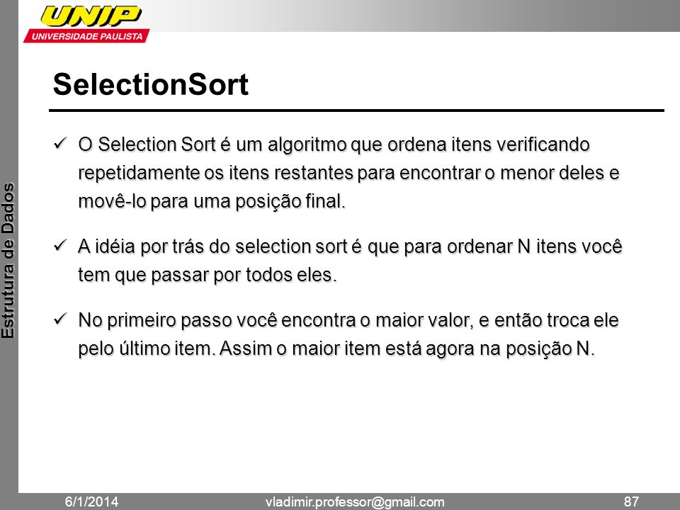 SelectionSort