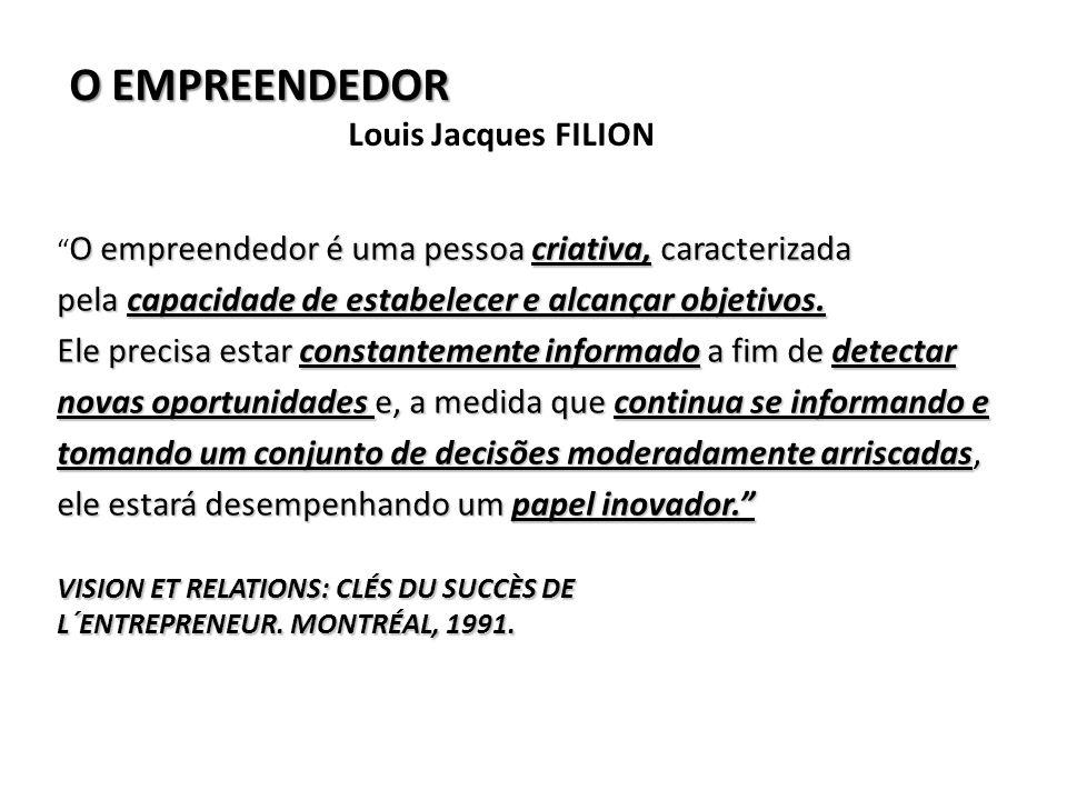 O EMPREENDEDOR Louis Jacques FILION