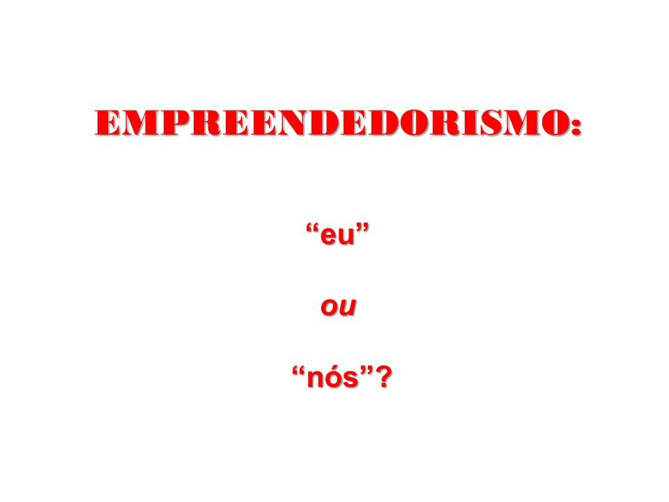 EMPREENDEDORISMO: eu ou nós