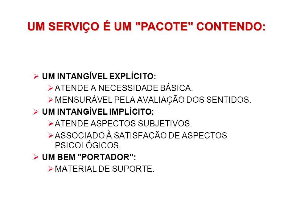 UM SERVIÇO É UM PACOTE CONTENDO: