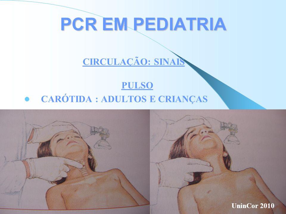 PCR EM PEDIATRIA CIRCULAÇÃO: SINAIS PULSO