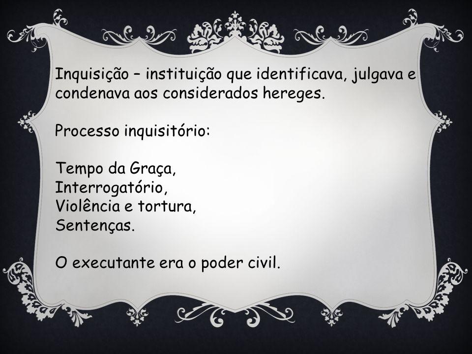 Inquisição – instituição que identificava, julgava e