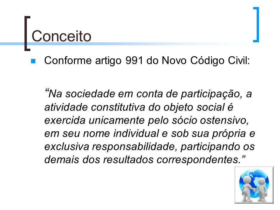 Conceito Conforme artigo 991 do Novo Código Civil: