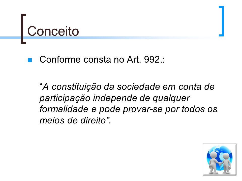 Conceito Conforme consta no Art. 992.: