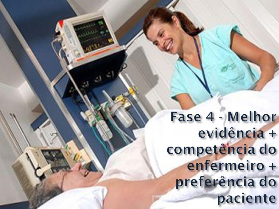 Fase 4 - Melhor evidência + competência do enfermeiro + preferência do paciente