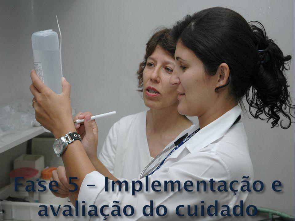 Fase 5 – Implementação e avaliação do cuidado