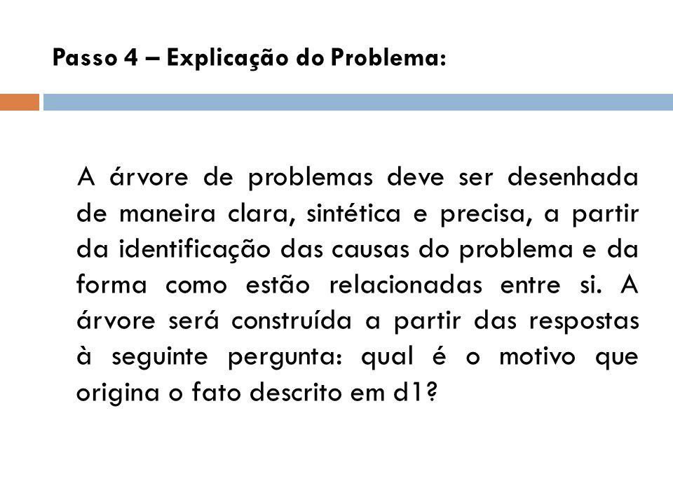 Passo 4 – Explicação do Problema: