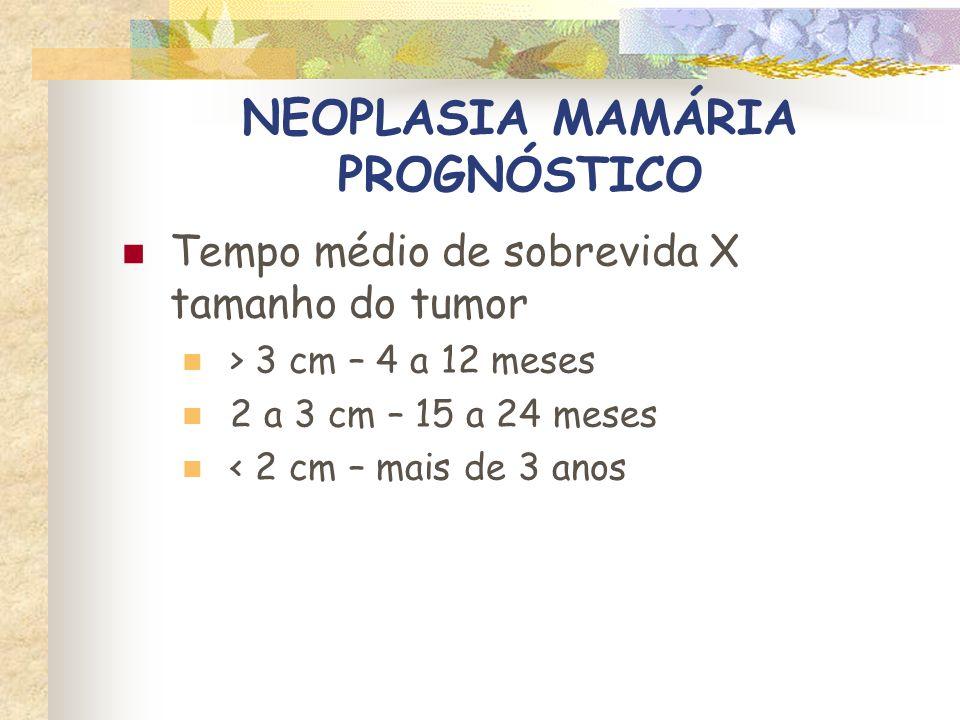 NEOPLASIA MAMÁRIA PROGNÓSTICO