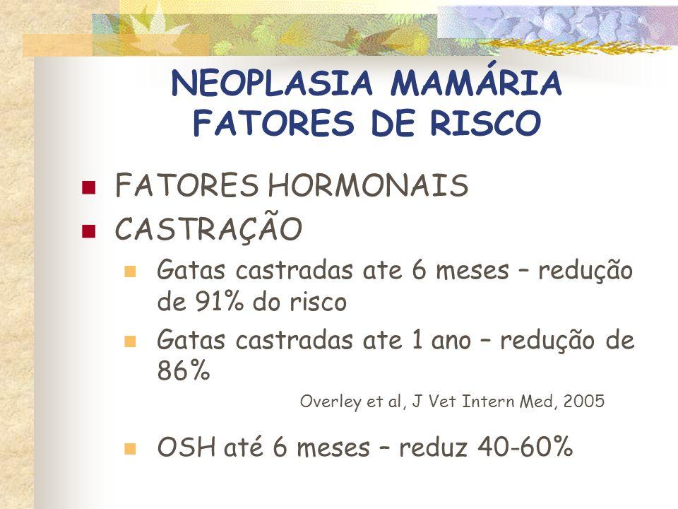NEOPLASIA MAMÁRIA FATORES DE RISCO