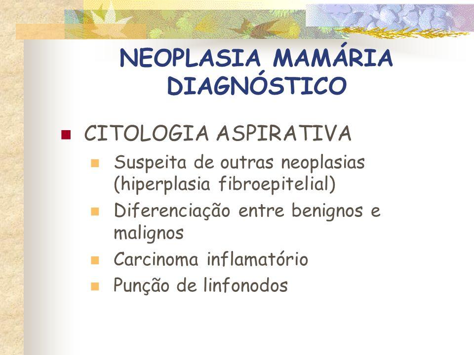 NEOPLASIA MAMÁRIA DIAGNÓSTICO