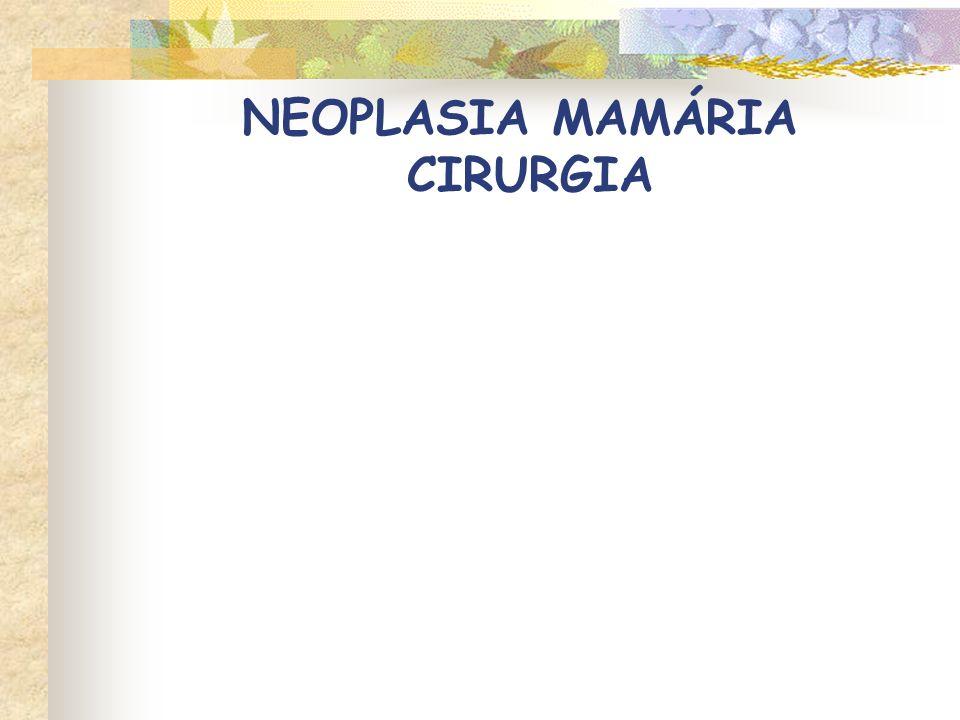 NEOPLASIA MAMÁRIA CIRURGIA