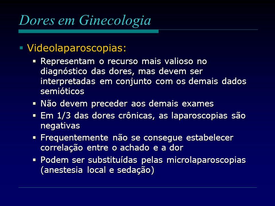Dores em Ginecologia Videolaparoscopias: