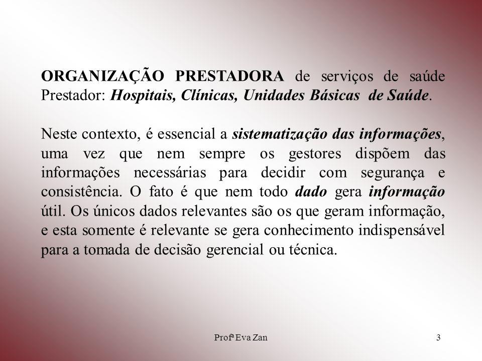 ORGANIZAÇÃO PRESTADORA de serviços de saúde Prestador: Hospitais, Clínicas, Unidades Básicas de Saúde.