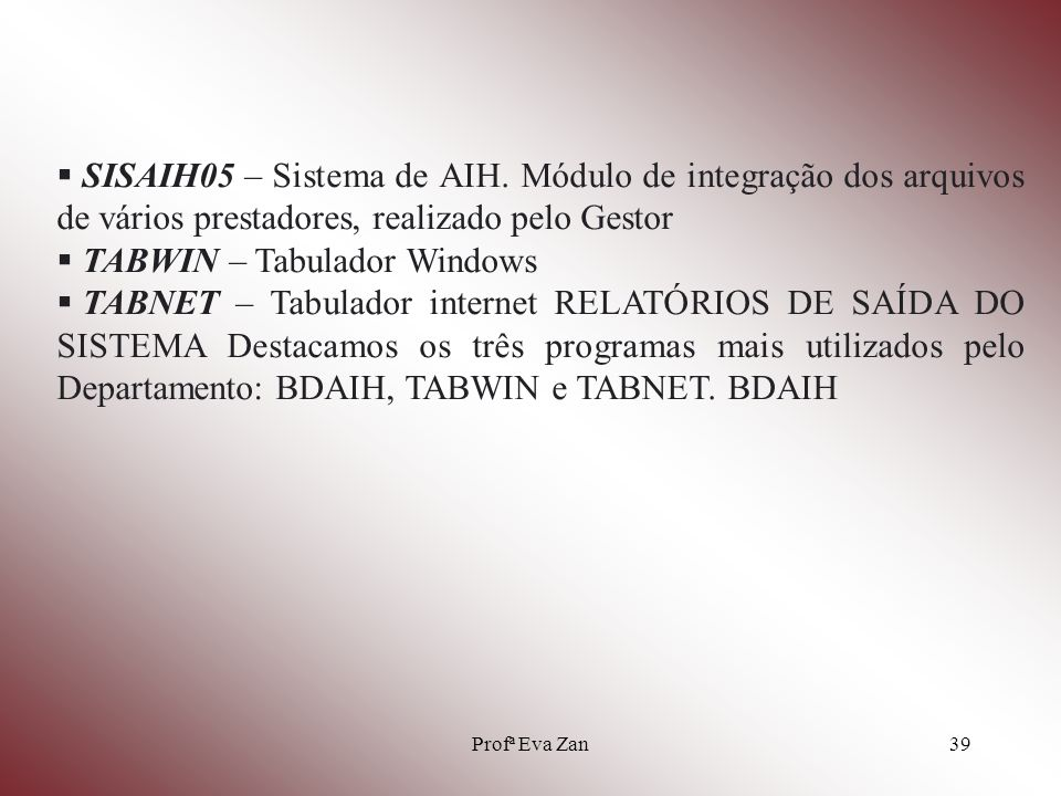 TABWIN – Tabulador Windows