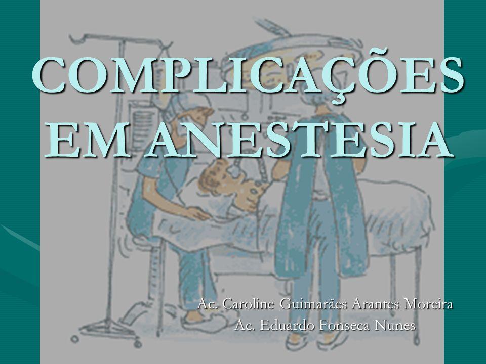 COMPLICAÇÕES EM ANESTESIA