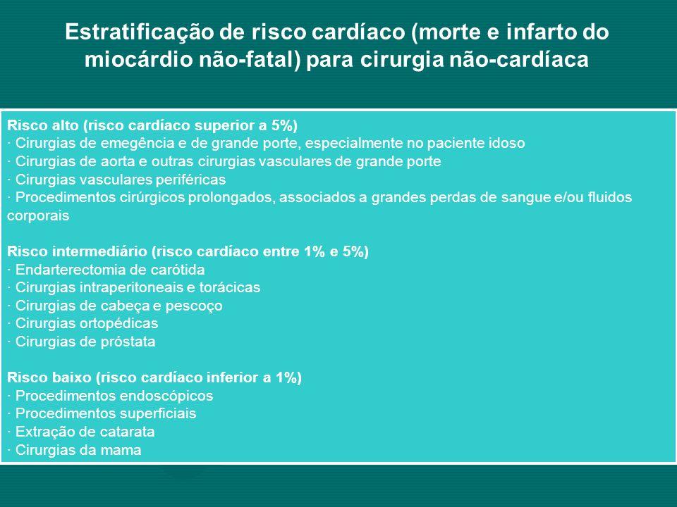 Estratificação de risco cardíaco (morte e infarto do miocárdio não-fatal) para cirurgia não-cardíaca