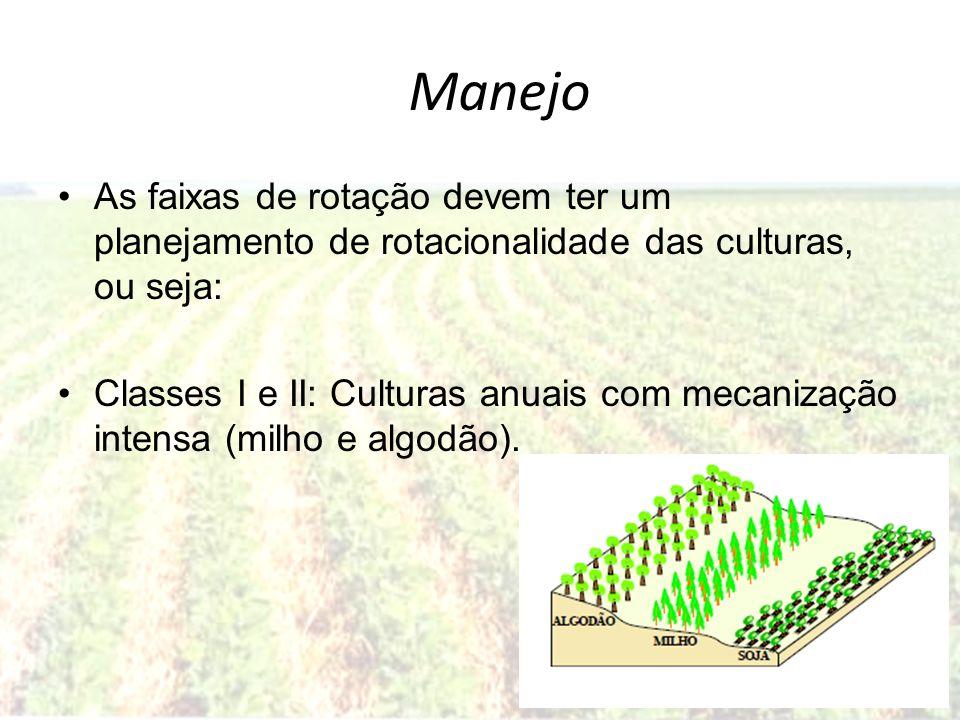 ManejoAs faixas de rotação devem ter um planejamento de rotacionalidade das culturas, ou seja:
