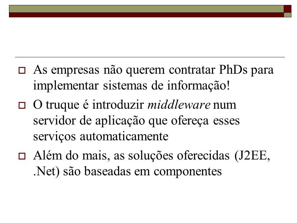 As empresas não querem contratar PhDs para implementar sistemas de informação!