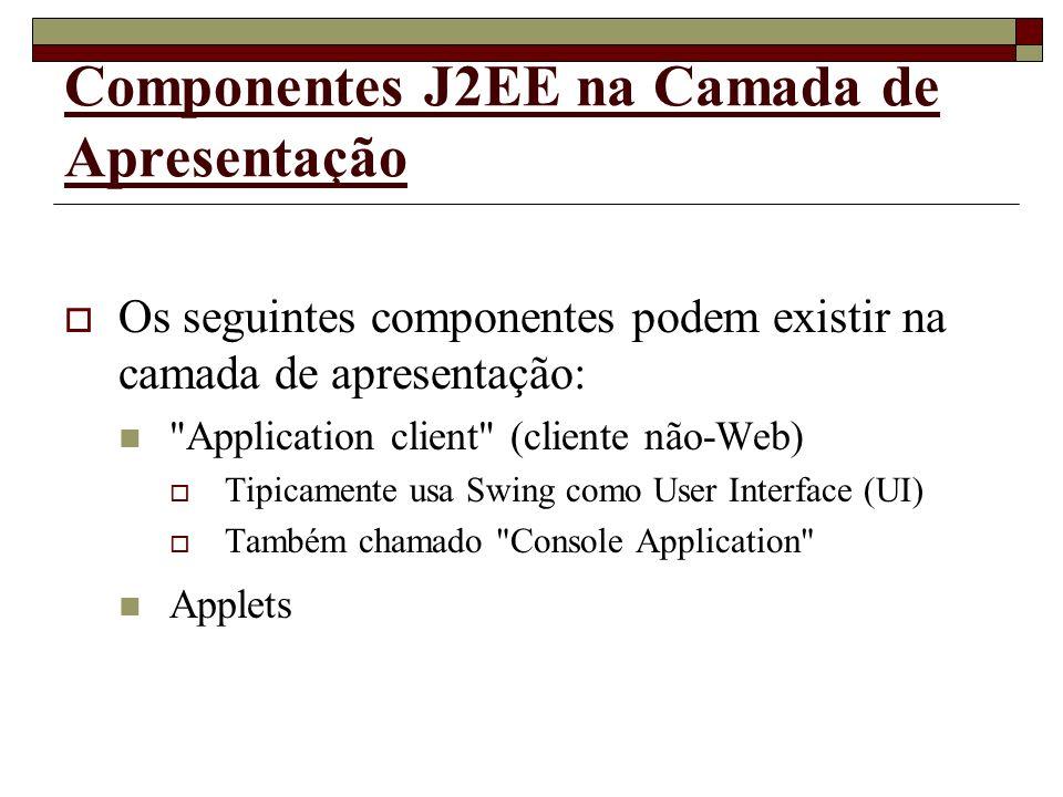 Componentes J2EE na Camada de Apresentação