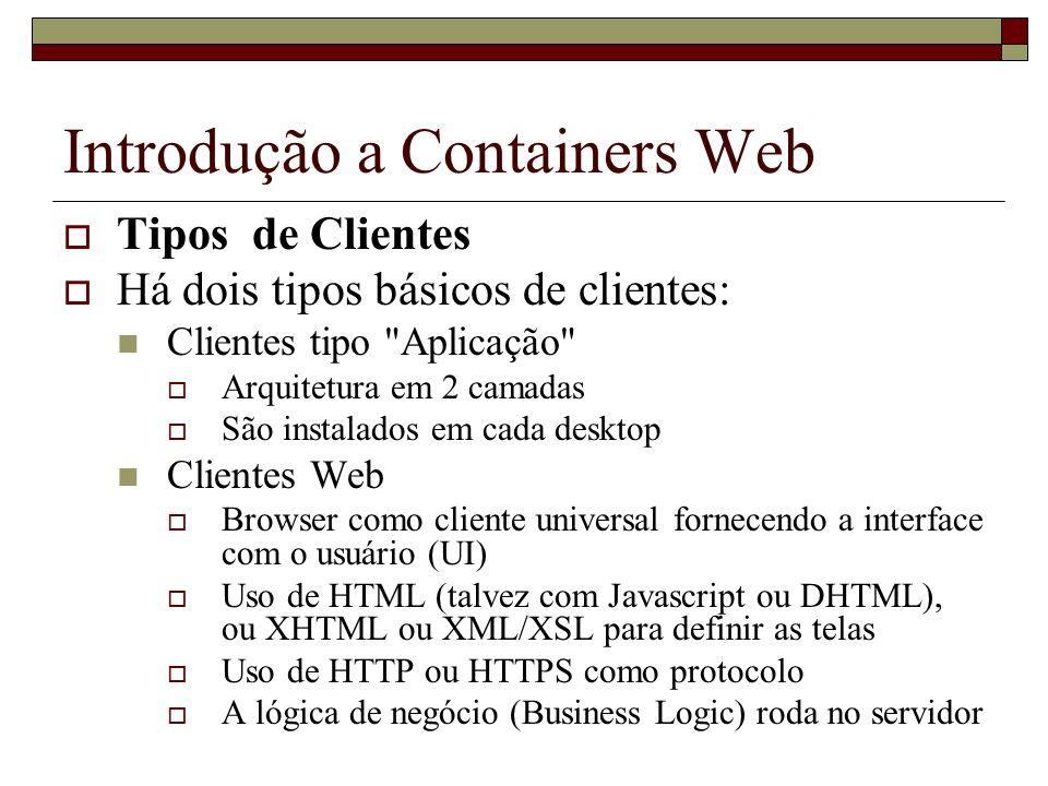 Introdução a Containers Web