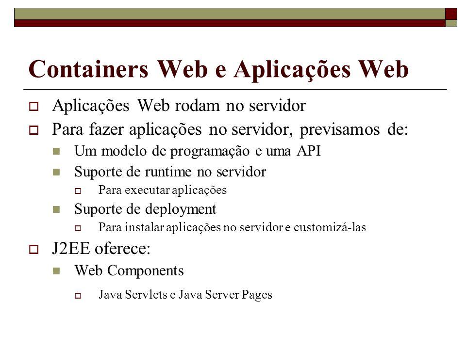 Containers Web e Aplicações Web