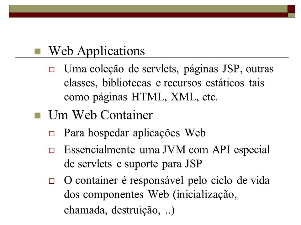 Web Applications Um Web Container