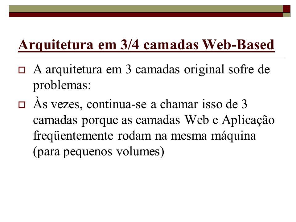 Arquitetura em 3/4 camadas Web-Based