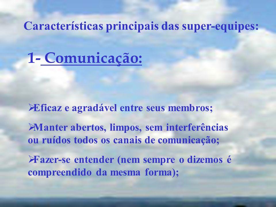 1- Comunicação: Características principais das super-equipes: